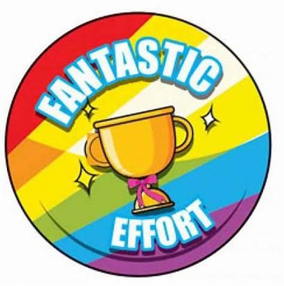 Fantastic Clipart Effort Sticker Stickers Badge Merit