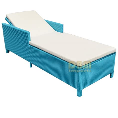 turquoise 1 person sunbed wicker rattan outdoor patio