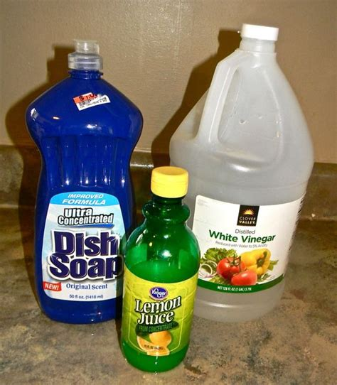 vinegar water cleaner hard water cleaner 1 2 c original blue dawn 1 2 cup white vinegar mix and use immediately