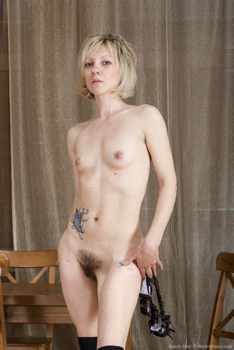 The Russian Blonde Sandy May Is Exotic And Hairy