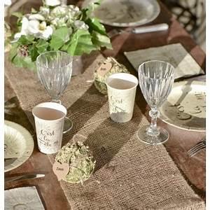 Chemin De Table Rose Gold : chemin de table en jute de couleurs les couleurs du ~ Teatrodelosmanantiales.com Idées de Décoration