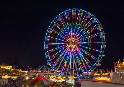Wheel Ferris Rides Funfair Lights Fair Fairground
