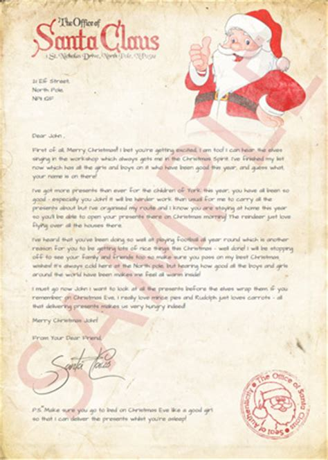 christmas letter from santa letters from santa personalized 20847 | letter sample small