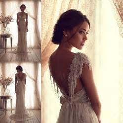 vintage lace sleeve wedding dress 2014 best vintage v neck sheer cap sleeve wedding dress beaded lace bridal gown beaded lace