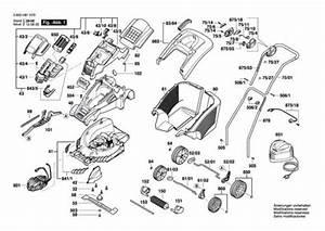 Bosch Rotak 43 Li  3600h81h70  Lawnmower Spares  U0026 Parts