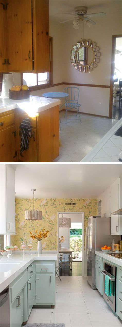 cheap kitchen makeover ideas before and after before and after 25 budget friendly kitchen makeover 9803