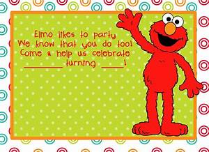 elmo birthday party on pinterest elmo party elmo With elmo template for invitations