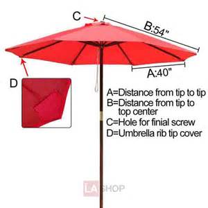 9 ft patio market umbrella replacement canopy thelashop