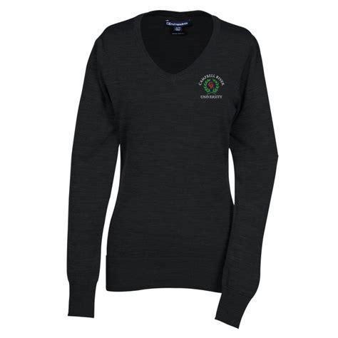 imprintcom cutter buck  neck merino blend sweater