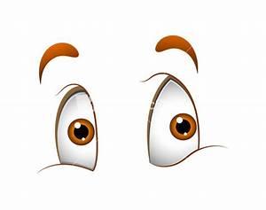Cute Cartoon Eyes Stock Image