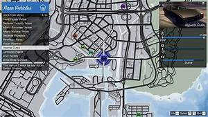 GTA Online Rare Vehicle Spawn Map - GTA 5 Cheats