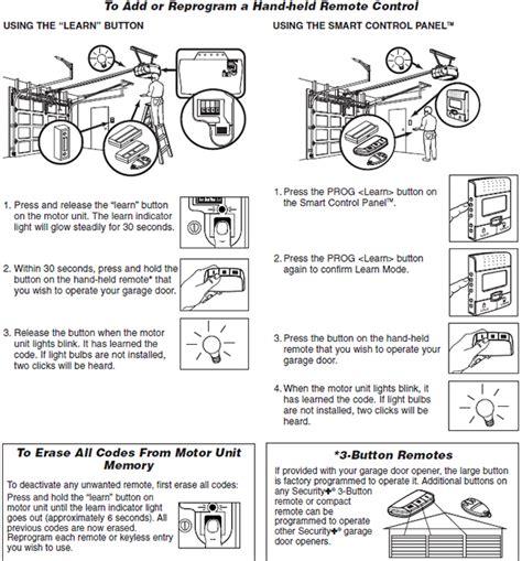 replace garage door opener remote with garage door springs for garage door reprogram my liftmaster remote how to reprgram a