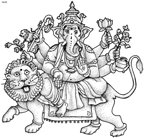 hindu coloring pages coloring home