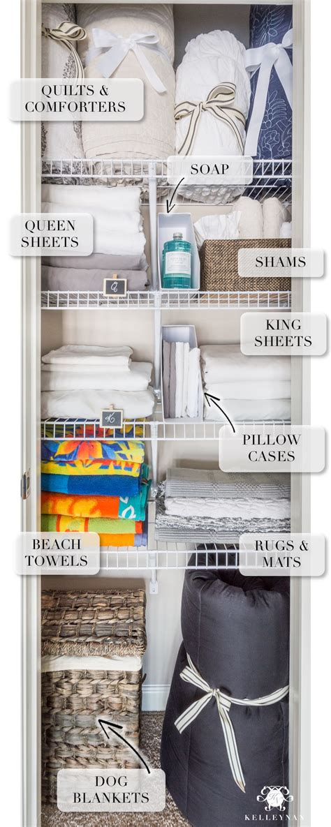 A Small Organized Linen Closet (and Ideas To Store Bulky