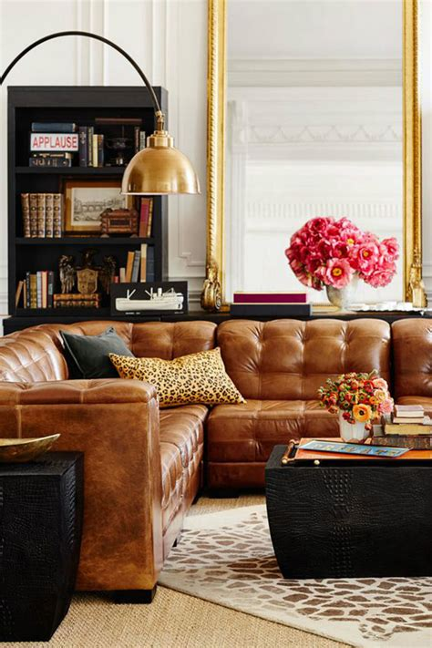 Decorating Living Room With A Sectional by Living Room Inspiration Leather Sofa