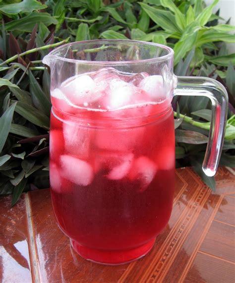jamaica drink iced hibiscus tea agua de flor de jamaica mak nao