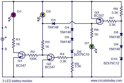 Led Battery Monitor Circuit Today Circuits
