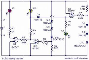 U0026gt 3 Led Battery Monitor Circuit