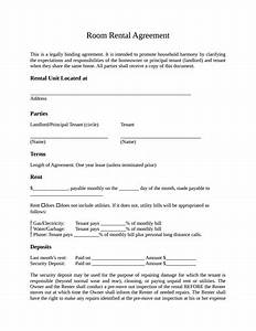 rent a room tenancy agreement template room rental With house sharing agreement template