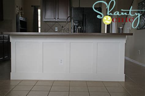 wainscoting kitchen island diy board and batten kitchen island shanty 2 chic 3304