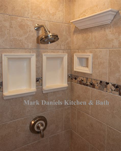 recessed bathroom tile niches traditional tile dc