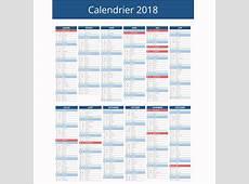 Calendrier 2018 avec jours fériés 3 Download 2019