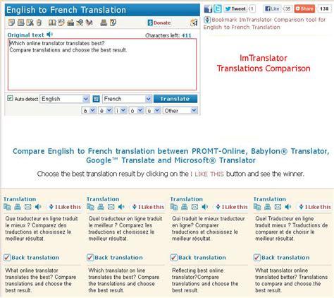Language Translator by Compare Translators Imtranslator