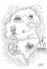 Treasure Map Coloring Pages Comments sketch template