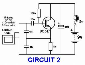 basic circuitry of metal detection With detector circuit diagram moreover metal detector circuit diagram