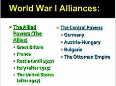World War I part 1