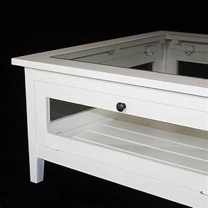 Table Basse Rectangulaire Blanche : table de salon bois blanc table basse rectangulaire blanche objets decoration maison ~ Teatrodelosmanantiales.com Idées de Décoration