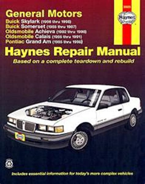 1999 Pontiac Grand Am Repair Manual by Pontiac Grand Am Revues Techniques Haynes Et Chilton 9