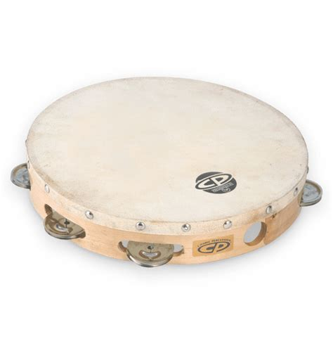 """Classically the term tambourine denotes an instrument with a drumhead, though some variants may not have a head. CP 10"""" Tambourine w/Head Single Row   Latin Percussion®"""