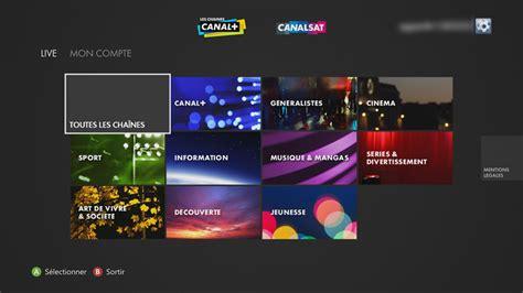 si鑒e canal plus configurer et utiliser l 39 application canal canalsat sur xbox 360
