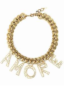 Dolce & gabbana 'amore' Necklace in Metallic | Lyst