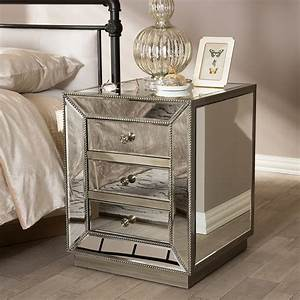 Graceful Mirror End Tables 5 Mirrored Table Glass Side For