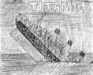 How to draw titanic sinking