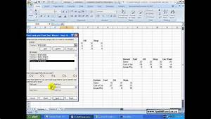 Pivot Tables 2007 Multiple Consolidation Ranges Youtube