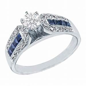 round diamond vintage engagement ring horse shoe setting With wedding ring sets with sapphire accents