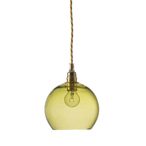 mini olive green transparent glass ceiling pendant
