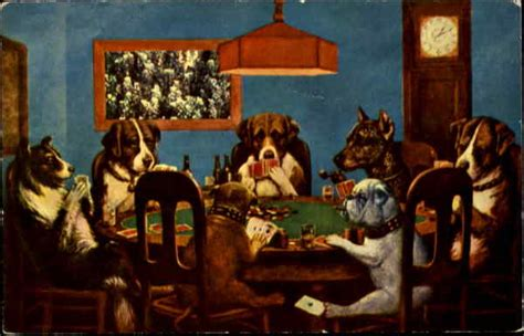 dogs playing poker casinos gambling