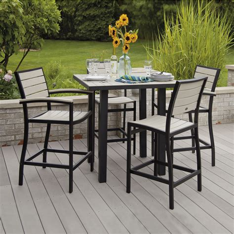 inspiring bar height outdoor dining set 4 5 piece bar