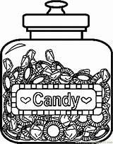 Coloring Candy Jar Template Printable Apple Coloringpages101 Sketch sketch template