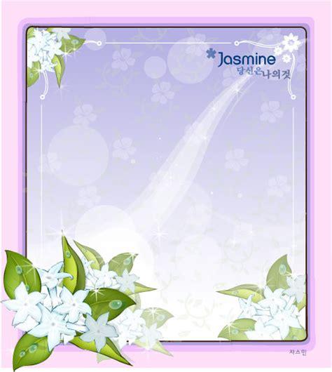 fair jasmine flower vector frame
