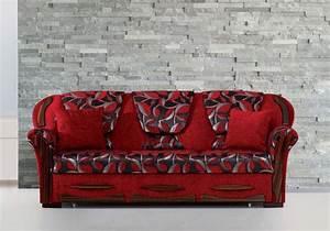 Canapé Rouge Convertible : canap convertible lit rouge efes tr s confortable prix sobre ~ Teatrodelosmanantiales.com Idées de Décoration