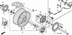 Honda Cbr1000rr8 2008 Rear Wheel Supplied Next Day  Uk