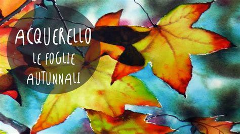 corso  acquerello lezione   dipingere foglie