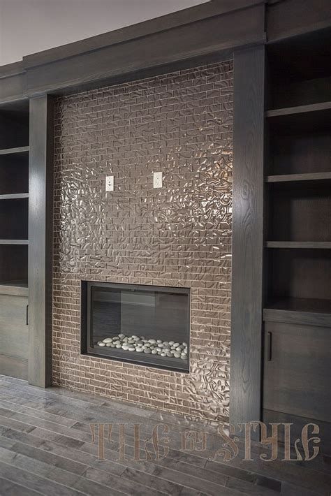 fireplace wall tile best 25 glass tile fireplace ideas on white