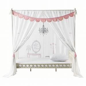 Himmelbett Weiß 120x200 : himmelbett vorhang princesse aus baumwolle 105 x 210 cm wei maisons du monde ~ Indierocktalk.com Haus und Dekorationen