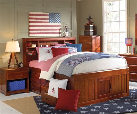 Captains Bed With Bookcase Headboard by 2821 Bookcase Headboard Captain Bed W Trundle 3 Drawers